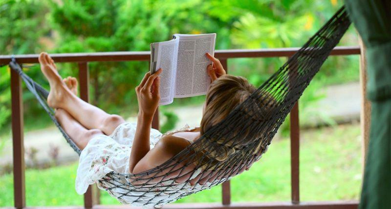 Relaxing in the hammock