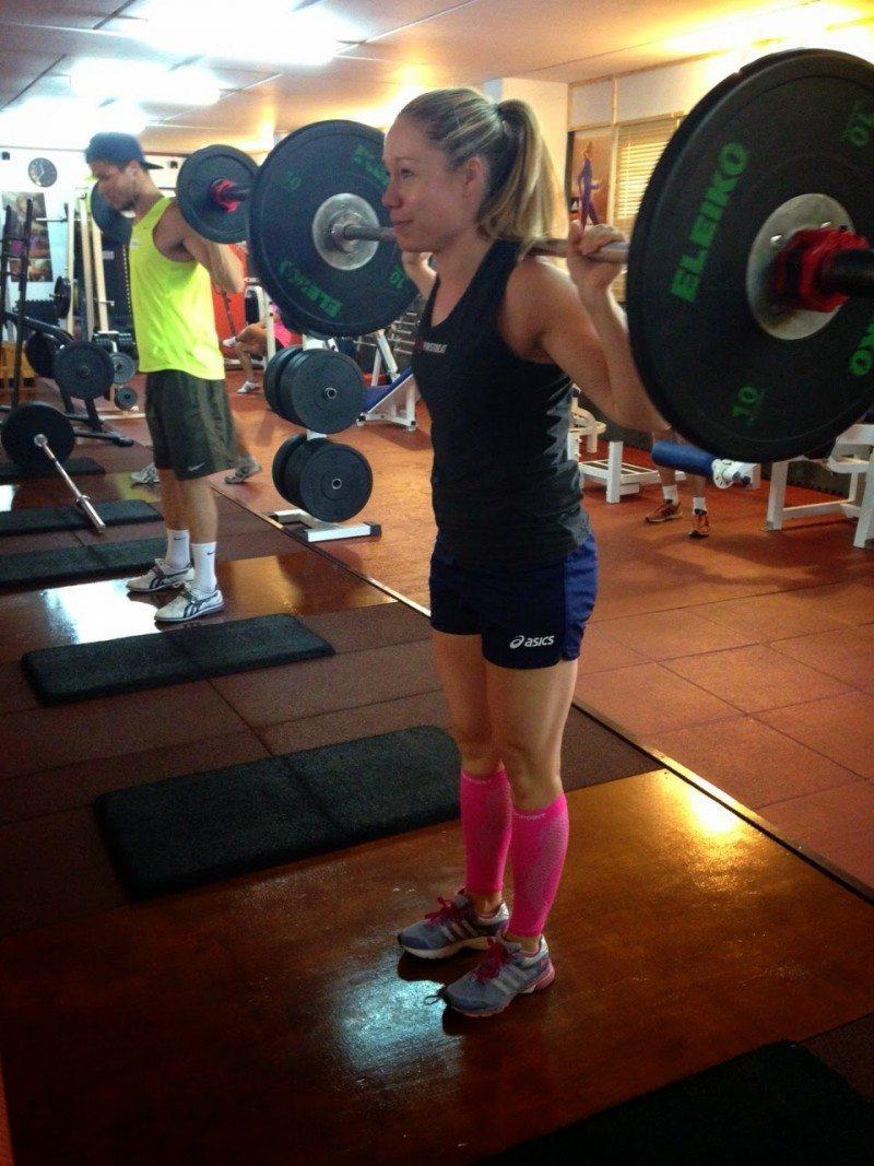 Gym training during the Tenerife training camp
