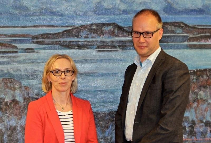 Inkeri Pasanen and Pekka Mervola of Keskisuomalainen News corporation