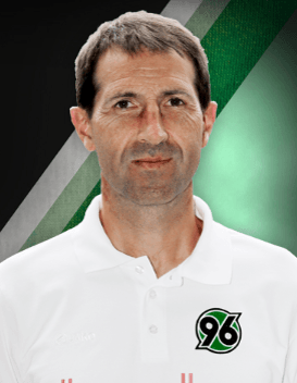 Julen Masach, the assistant trainer of Hannover 96