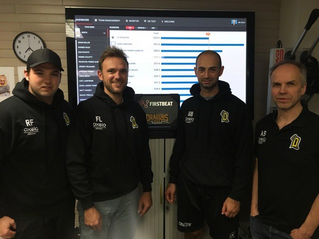 rouen dragons coaching staff with firstbeat sports