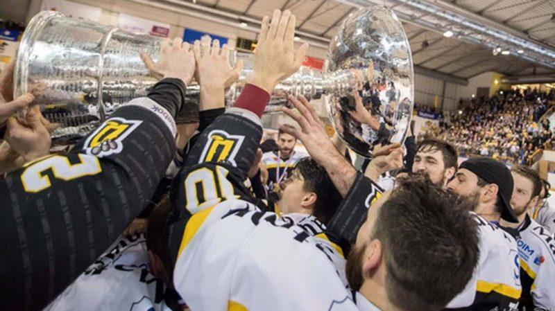 rouen dragons with trophy