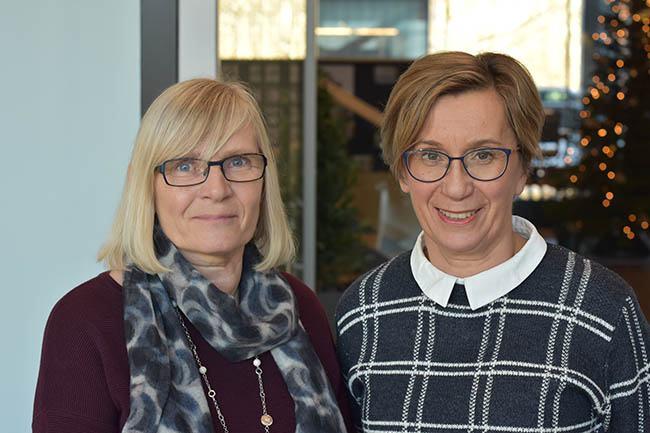 Ifin työhyvinvointipäällikkö Irma Saarinen ja Mehiläisen työterveyshoitaja Leena Lammi