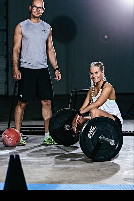 personal trainer Sami Alalauri ja Katja Kukkula