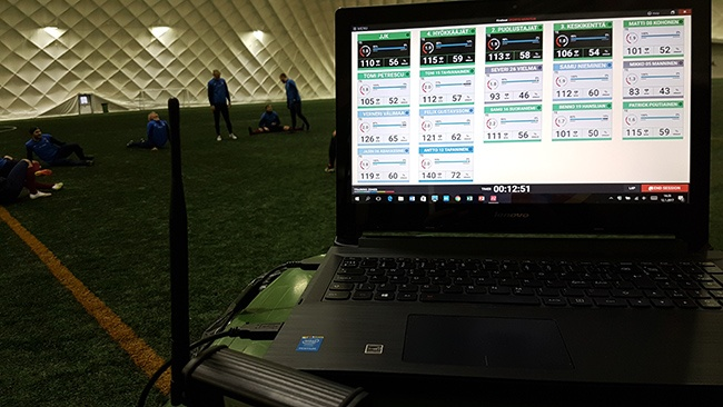firstbeat sports monitor in action