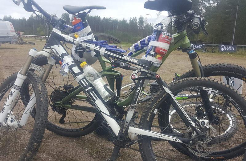 Lost in Kajaani sisälsi maastopyöräilyä