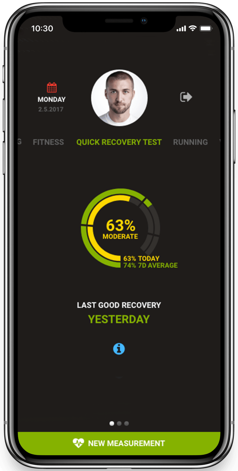Quick recovery test in Firstbeat App for remote coaching