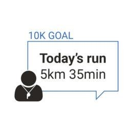 Run coach - goal for the day