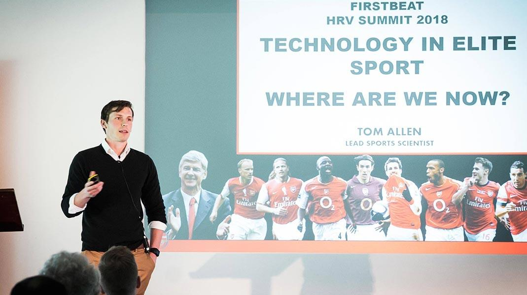 tom allen arsenal at firstbeat hrv summit 2018
