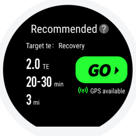 Amazfit Stratos recommended workout Training Effect