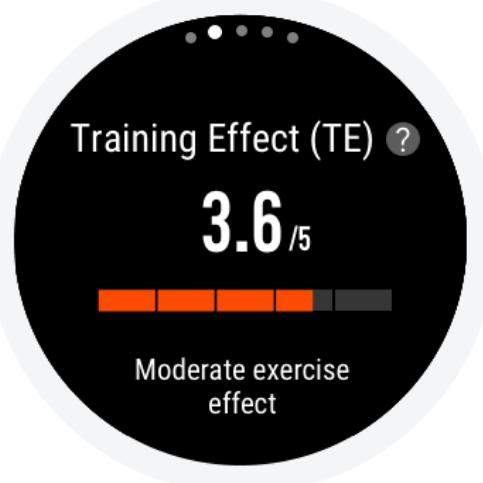 Training Effect on the Amazfit Stratos