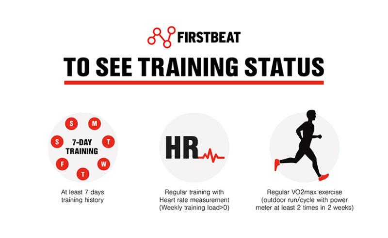 exercise to see your Training Status