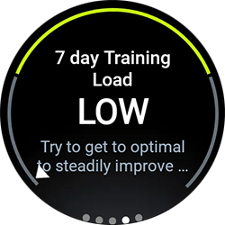 7 day Training Load