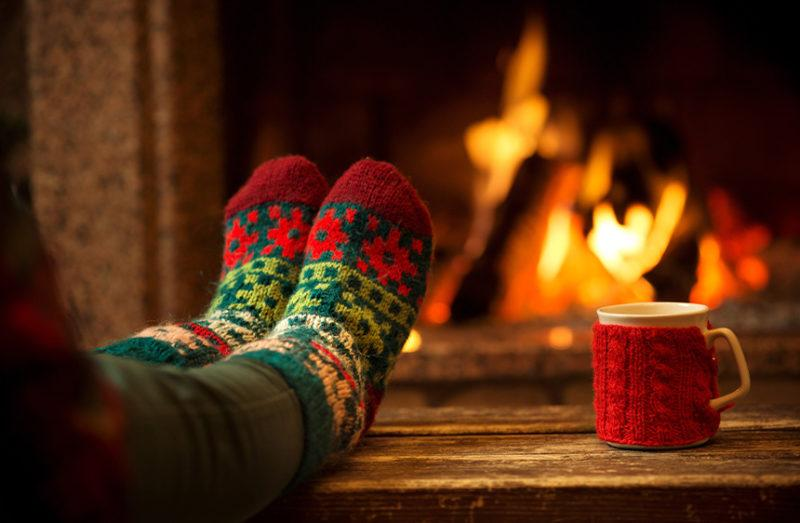 Relax and catch your breath for example in front of the fireplace