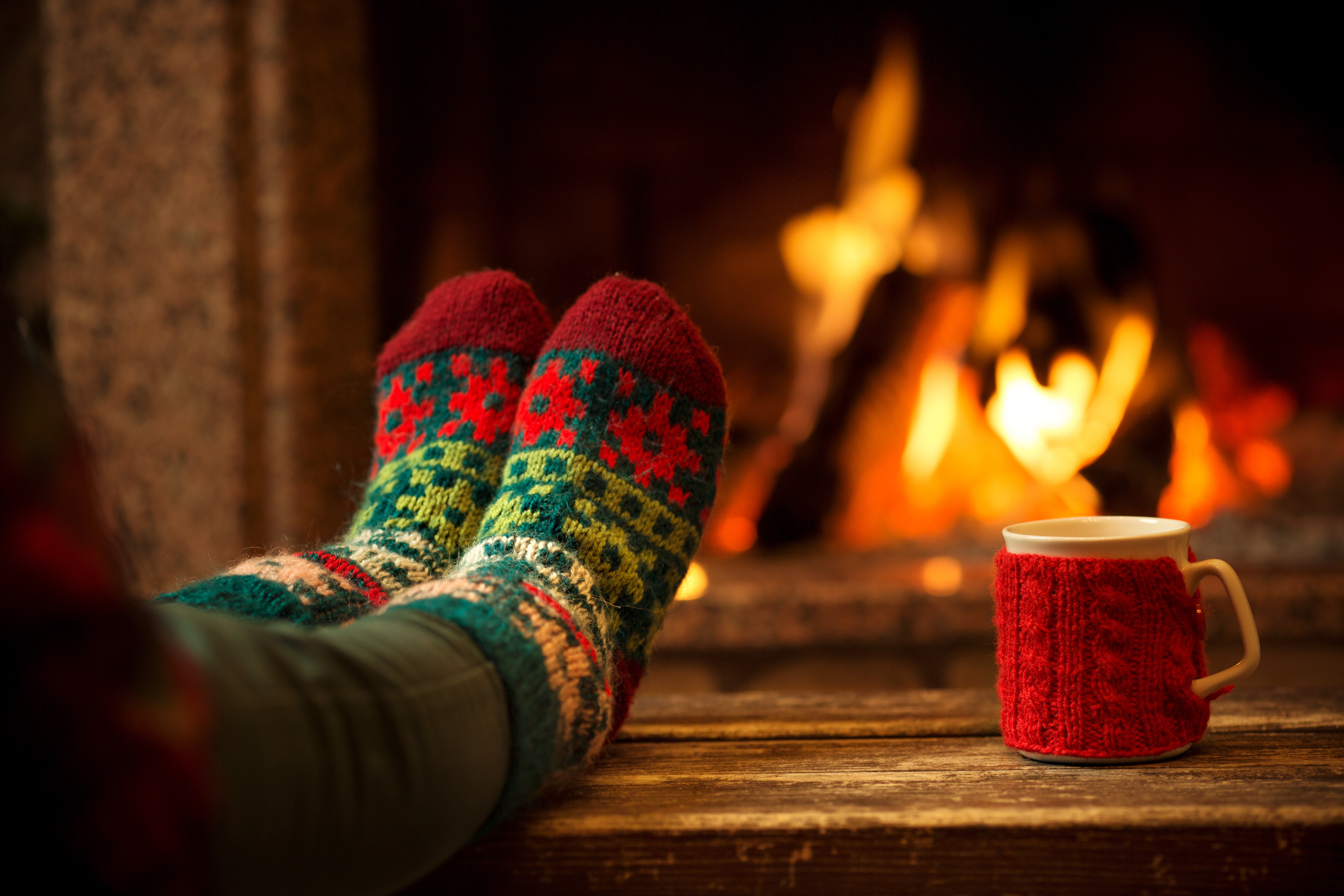 Relax and catch your breath for example in front of the fire place.