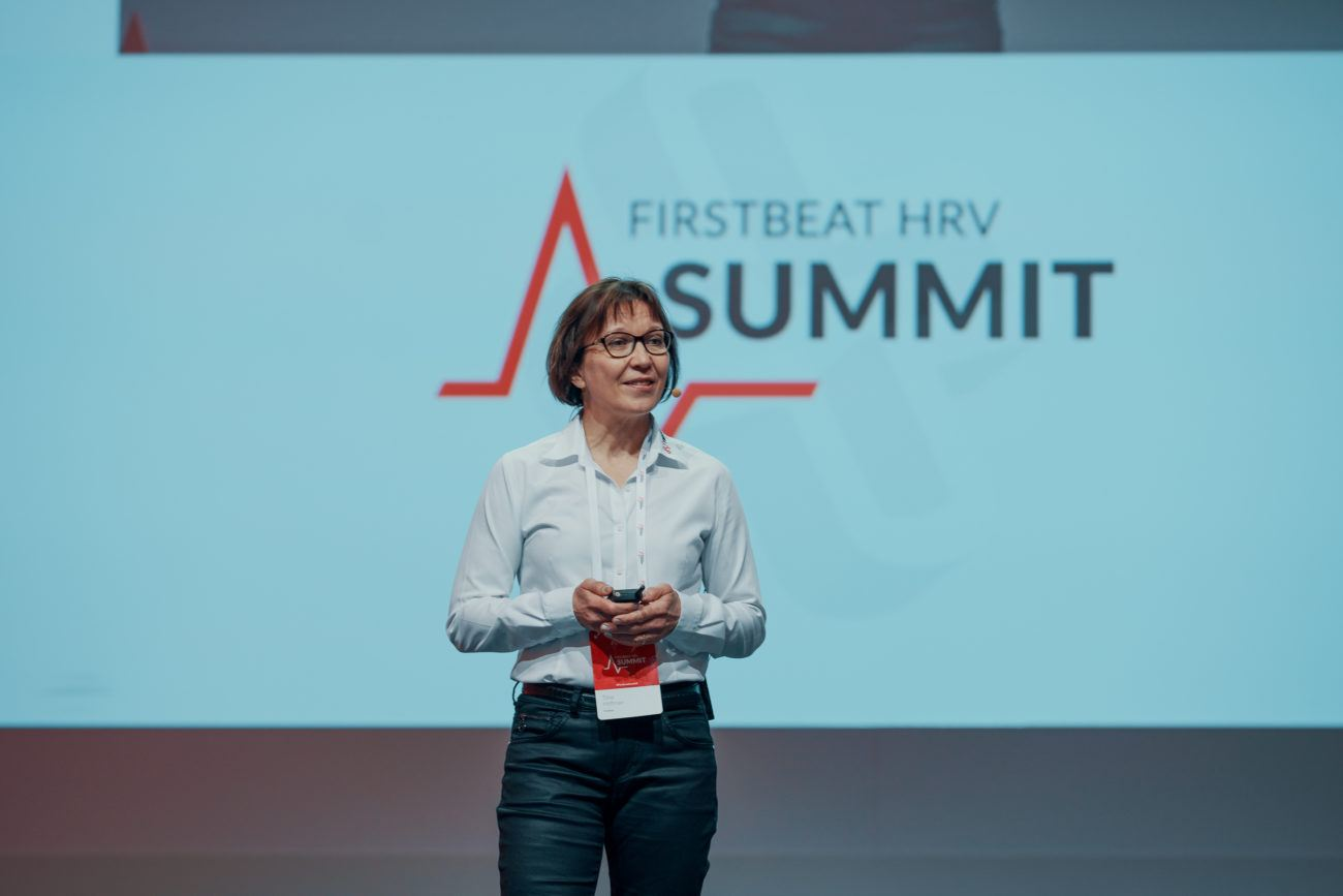 Tiina Hoffman at Firstbeat HRV Summit 2019