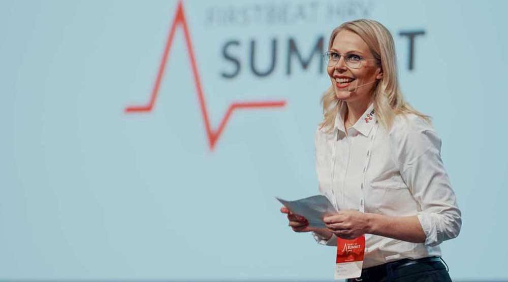 Anna de Torres at Firstbeat HRV Summit 2019