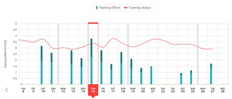 Firstbeat Sports Training Status Chart Example