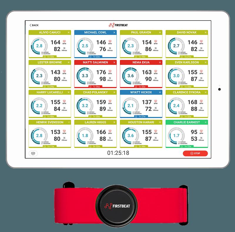 Firstbeat sport sensor and live app