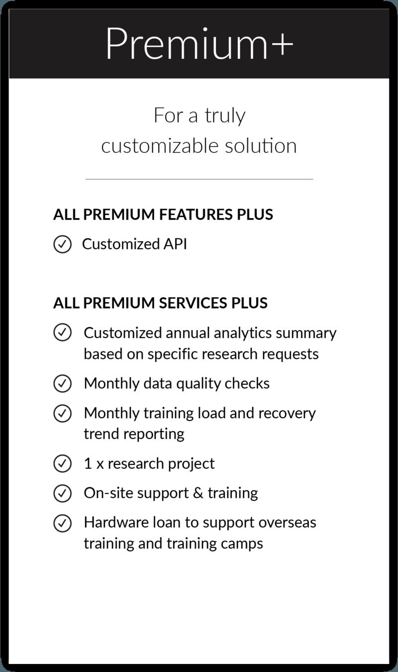 Firstbeat Sports   Premium+ Offering