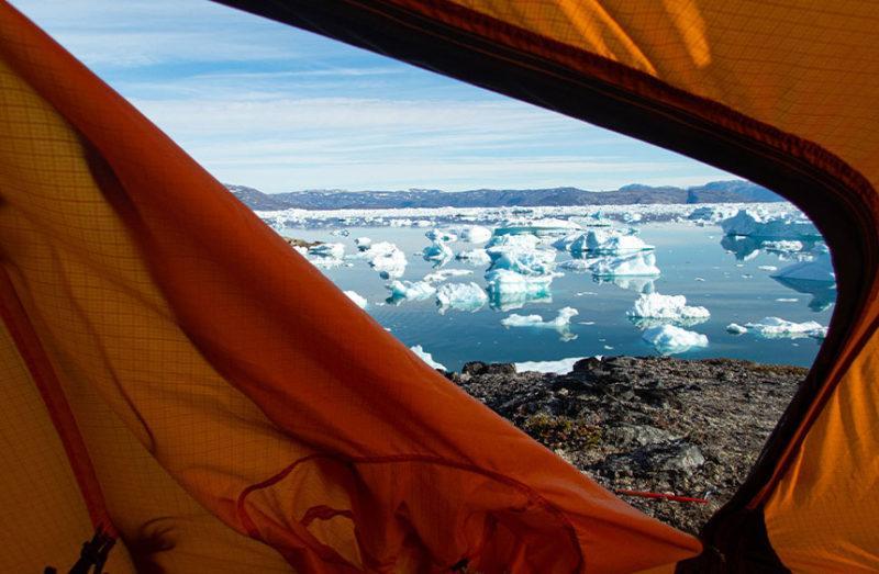Grönlanti - näkymä teltasta