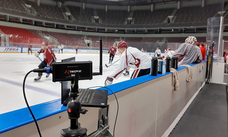 Firstbeat Sports system is used during ice hockey practice