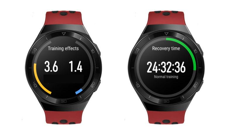 firstbeat training effect recovery time in huawei watch gt 2e